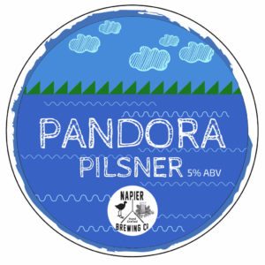 Pandora Pilsner Tap Badge